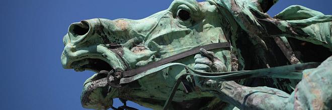 Фрагмент памятника у Королевского Дворца, Будайский Замок, Будапешт