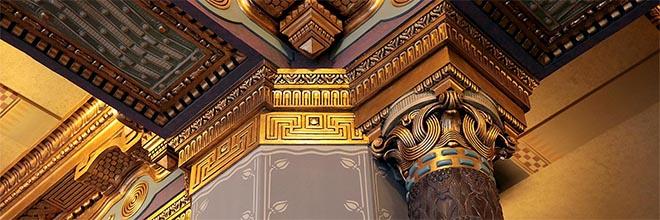Детали декора вестибюля Музыкальной Академии имени Ференца Листа, Будапешт