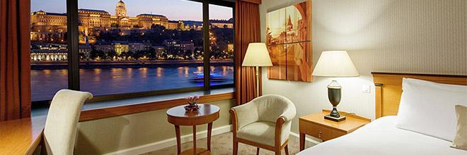 вид из окна номера отеля Интерконтиненталь на Будайский Замок, гид по Будапешту