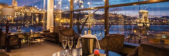 вид из ресторана отеля Интерконтиненталь на Будайский Замок, гид по Будапешту