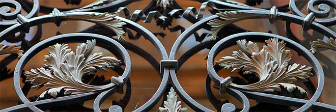 Где-то в Будапеште, фрагмент дверной решётки