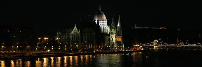 Парламент, Цепной мост и гора Геллерт тёплой летней ночью