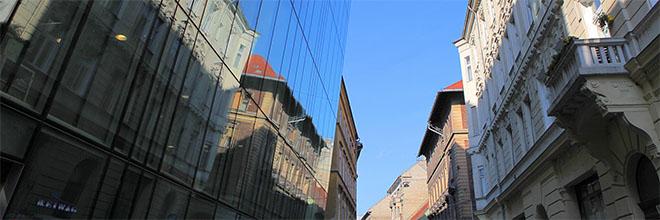 Улица в Еврейском квартале, Будапешт, Венгрия. гид по Будапешту и Венгрии
