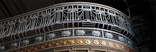 Фрагмент решётки балкона малого зала Музыкальной Академии, Будапешт