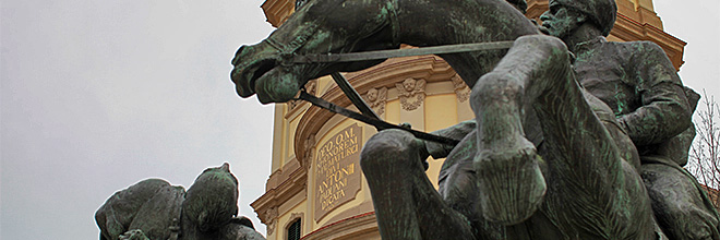Памятник турецким войнам с турками. гид по Будапешту