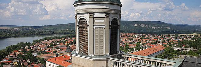 Эстергом, Дунай и горы с купола Базилики Св. Адальберта