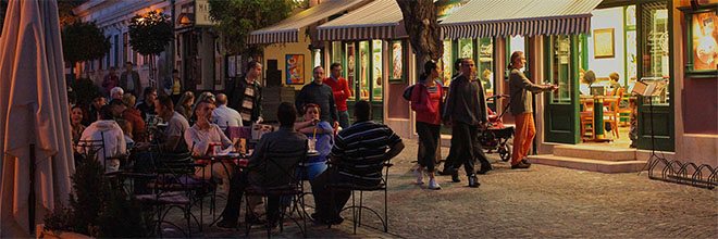 Однажды вечером в Сентендре: кофе, марципаны, тортики