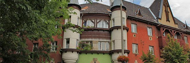 Один из домов района Векерле, Будапешт