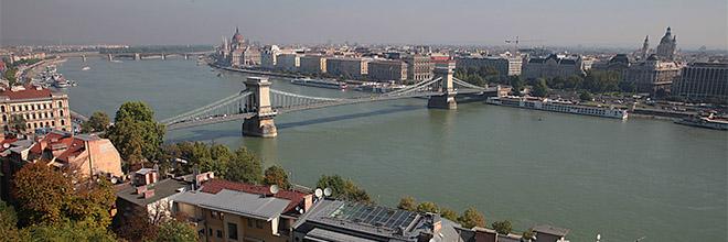 вид из Буды на Цепной мост, гид по Будапешту